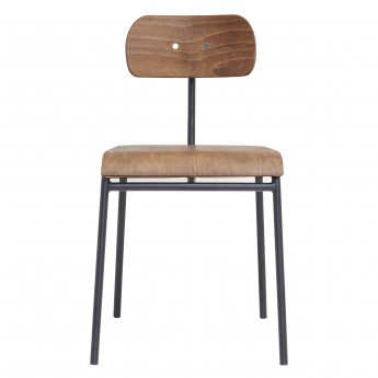 Chaise SCHOOL - Marron