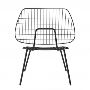 WM STRING LOUNGE Chair - Black