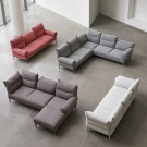 PANDARINE reclaining sofa 3 seaters - Raas 562