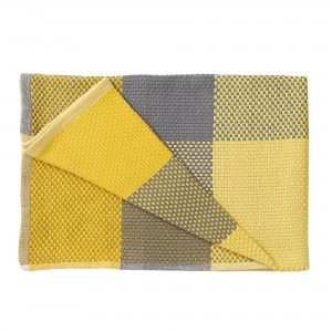 Plaid LOOM THROW jaune