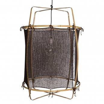 Z22 BLONDE hanging lamp - silk cashmere black