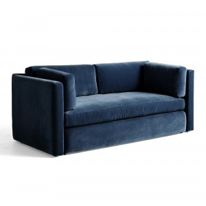 HACKNEY sofa 3 seaters blue velvet