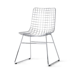 WIRE chair - Silver