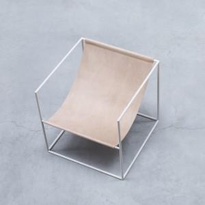 Solo seat white leather