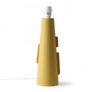 CONE lamp base S with handles - matt green