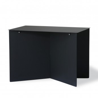 Metal SIDE table rectangular - black