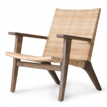 Chaise lounge WOVEN - bois naturel