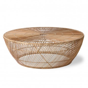 Table basse Wicker ronde - osier