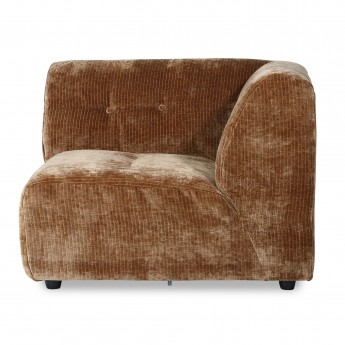 VINT couch element right - aged gold