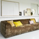 VINT couch element left - aged gold