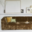 VINT couch element hocker - aged gold