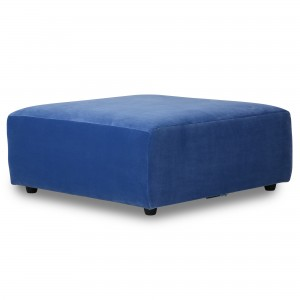 Module ottoman - canapé JAX velours bleu