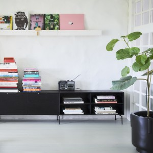 MODULAR Cabinet shelving element A - Black