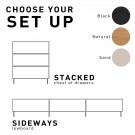 MODULAR Cabinet drawer element D - Black