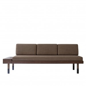 MID Straight sofa - Brown