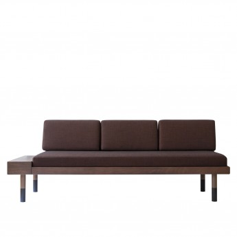 MID Straight sofa - Burgundy