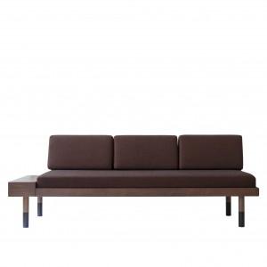 MID Straight sofa - Burgundy