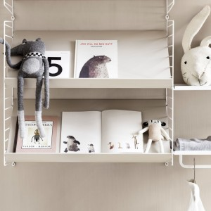 MAGAZINE SHELF - Wood - STRING system