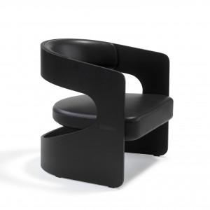 Chaise LUCKY Lounge - Noir / Cuir
