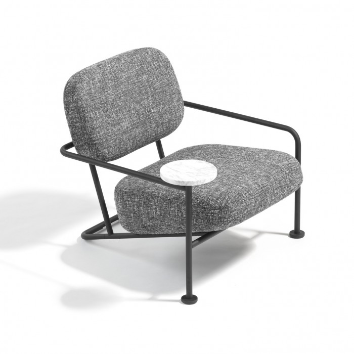 ÅHUS Easy Chair with wooden table - Fabric