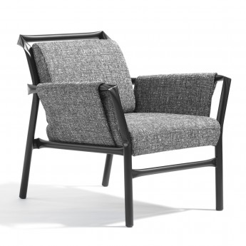SUPERLINK Easy Chair - Black or white steel