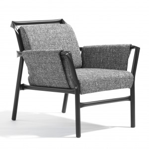 SUPERLINK Easy Chair - Black or white steel