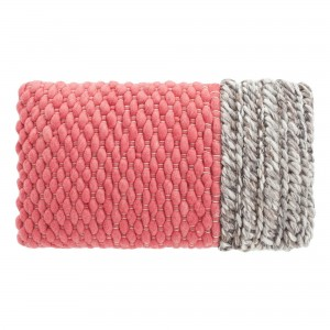 PLAIT Mangas pink cushion