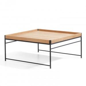 Table basse UNIT - Chêne clair laqué