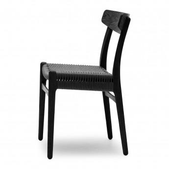 Chaise DINING chêne noir - Noir