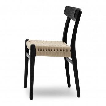 DINING chair black oak - Natural