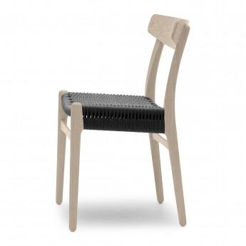 Chaise DINING chêne savonné - Noir