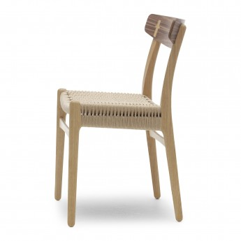 Chaise DINING chêne/noyer huilé - Naturel