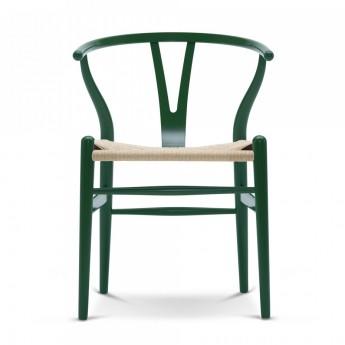 Wishbone chair colored beech - Black