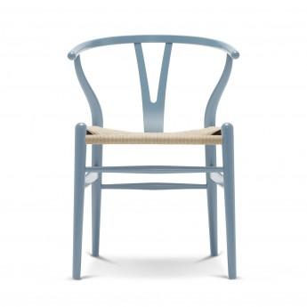 Chaise WISHBONE hêtre bleu acier - Noir