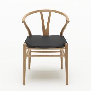 Chaise WISHBONE chêne huilé - Naturel avec coussin