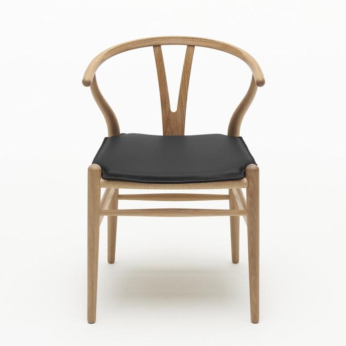 Wishbone chair oak oil - Natural with cushion