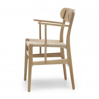 Chaise DINING avec accoudoirs - Chêne/Noyer huilé - Naturel