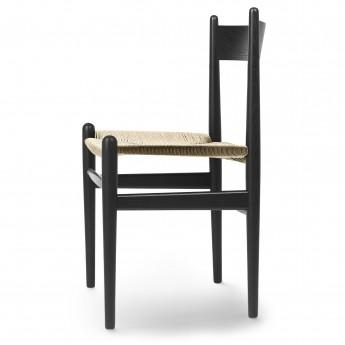 DINING chair CH36 black oak - Natural