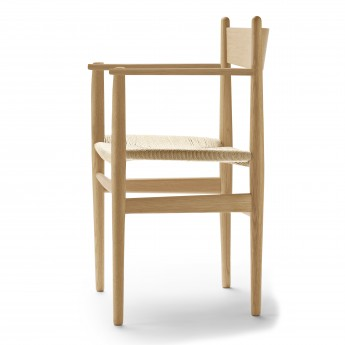 DINING chair with armrest CH37 oak oil - Natural