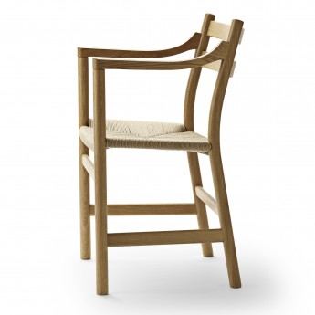 Chaise DINING avec accoudoirs CH46 chêne huilé - Naturel