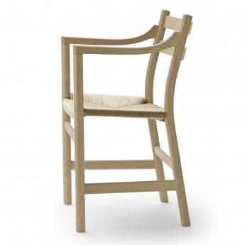 Chaise DINING avec accoudoirs CH46 chêne savonné - Naturel