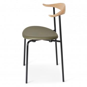 Chaise DINING CH88P - Noir - Cuir