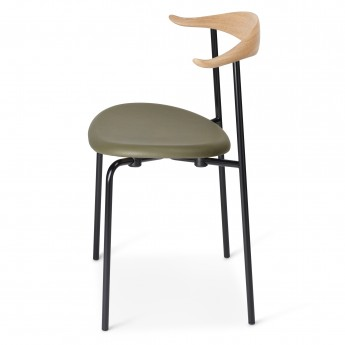 DINING chair CH88P - Black - Leather