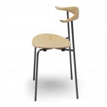 Chaise DINING CH88T - acier laqué poudre - Hêtre huilé