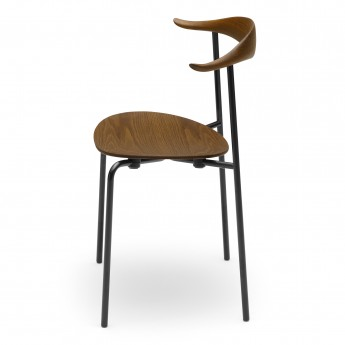 DINING chair CH88T - Powdercoated steel - oak smoked
