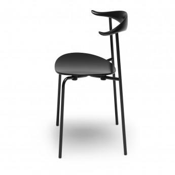 DINING chair CH88T - Powdercoated steel - black oak