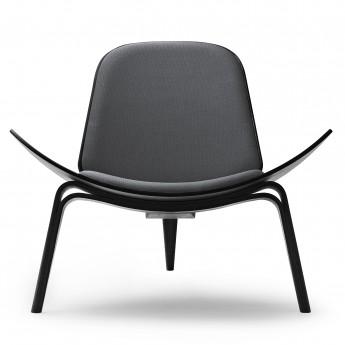 DINING chair CH88T - black steel - black oak
