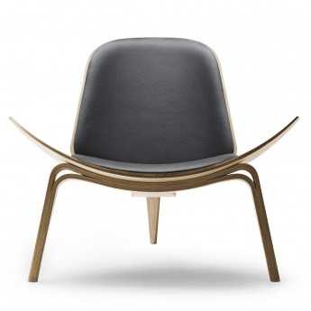 SHELL chair CH07 - Oak - Leather