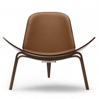 SHELL chair CH07 - Walnut - Leather