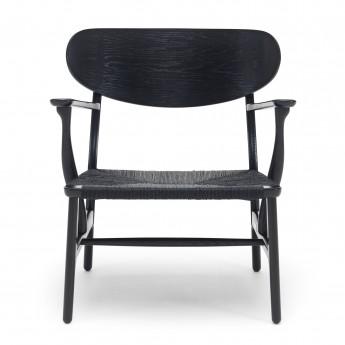 Chaise LOUNGE CH22 - Chêne noir - Noir